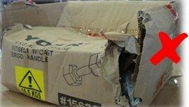 El embalaje externo está dañado