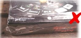 Con la pellicola della confezione originale strappata o mancante